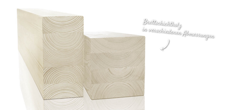 BSH mit verschiedenen Querschnitten – HolzLand Verbeek