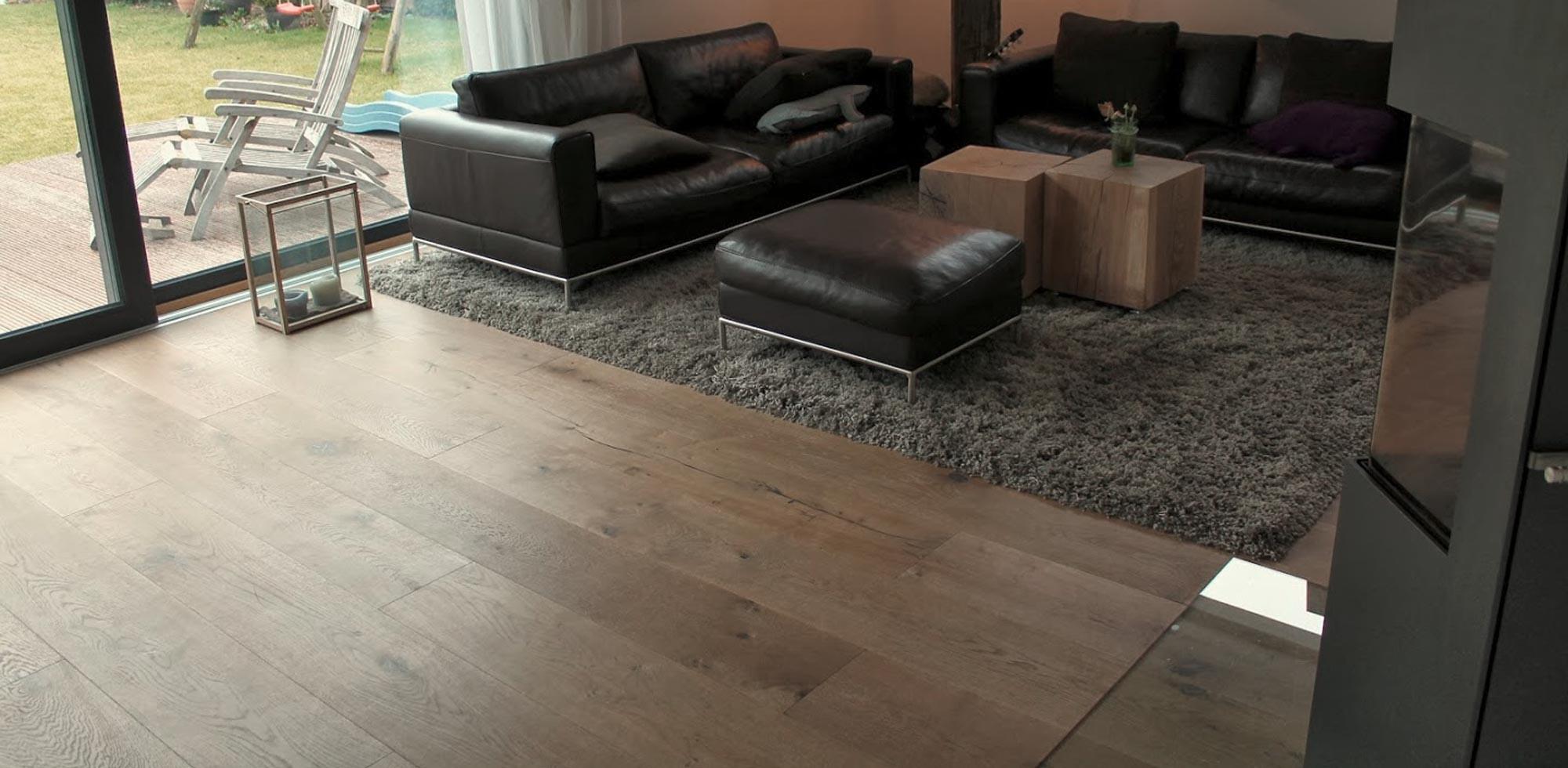 Schlossdielen im Wohnzimmer – HolzLand Verbeek