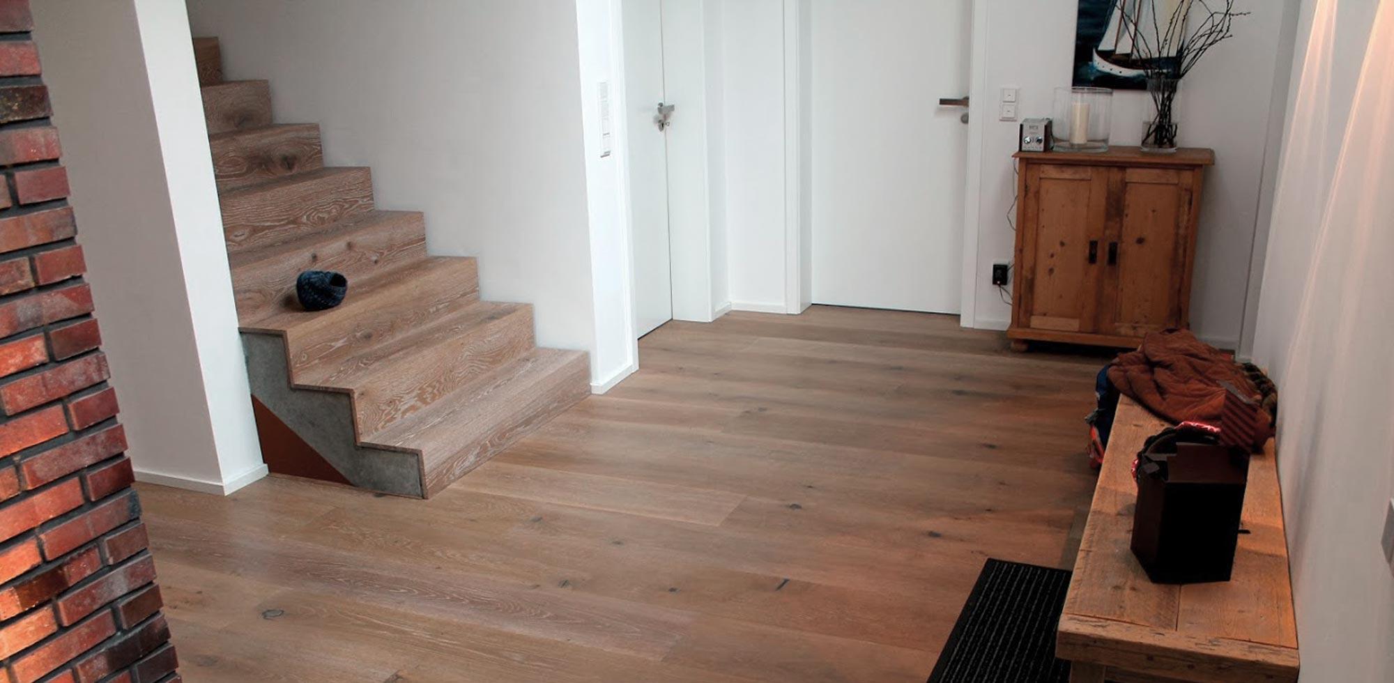 Treppenstufen aus Holz auf Beton – HolzLand Verbeek