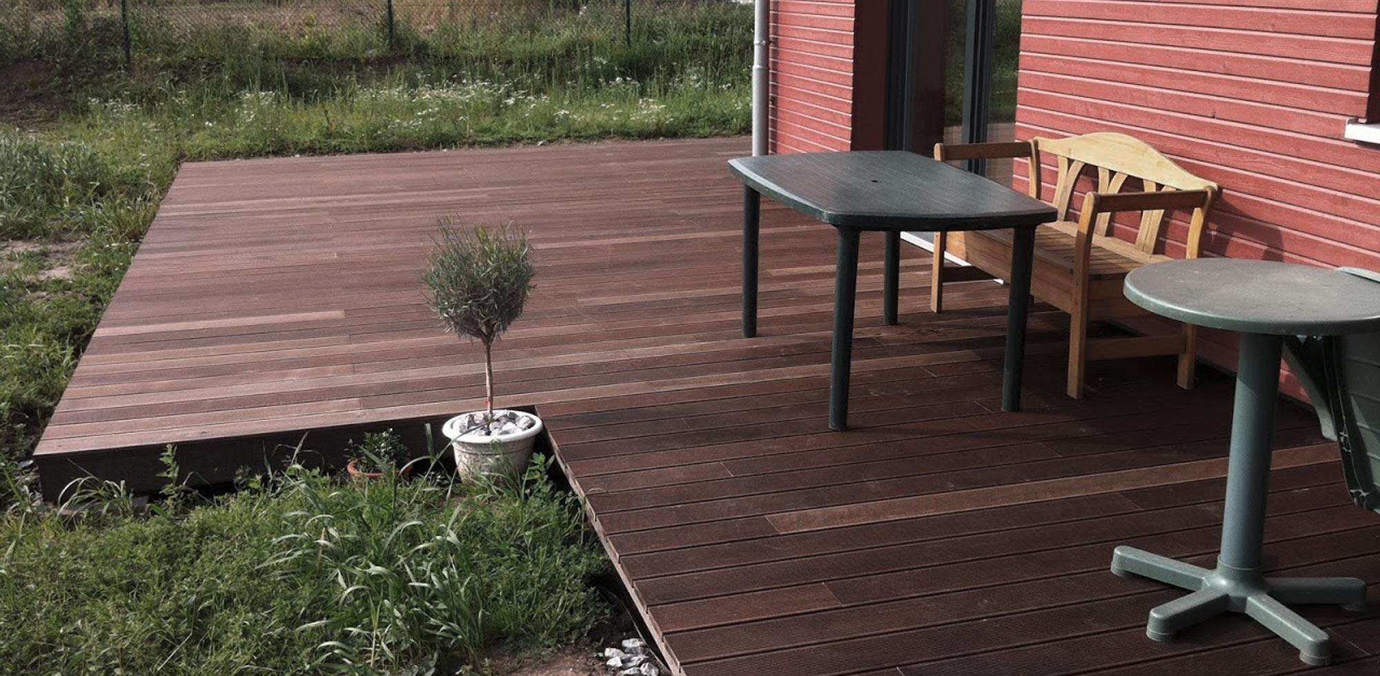 Terrasse aus Thermobuche – HolzLand Verbeek
