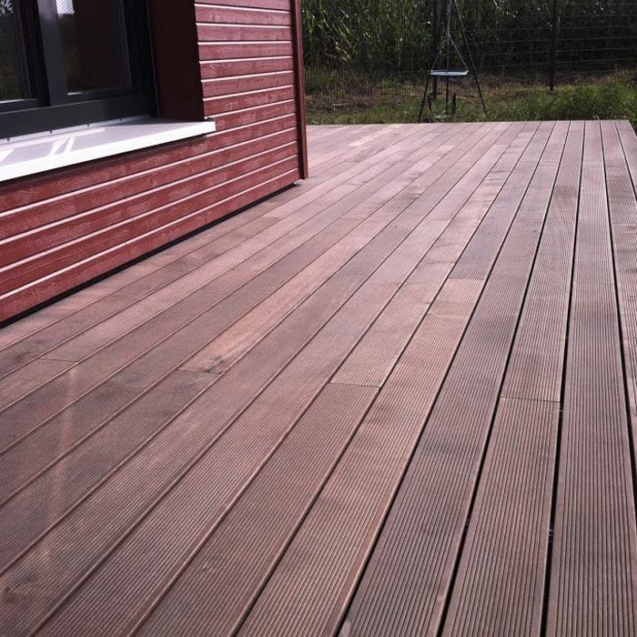 Terrasse aus Thermoholz – HolzLand Verbeek