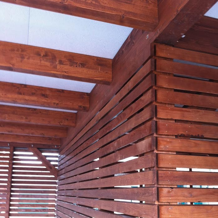 Selbst gebauter Carport aus Holz – HolzLand Verbeek