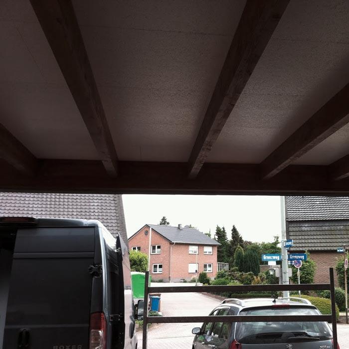 Unter dem Dach eines Carports – HolzLand Verbeek