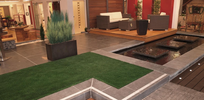Terrassen in der Gartenausstellung von HolzLand Verbeek