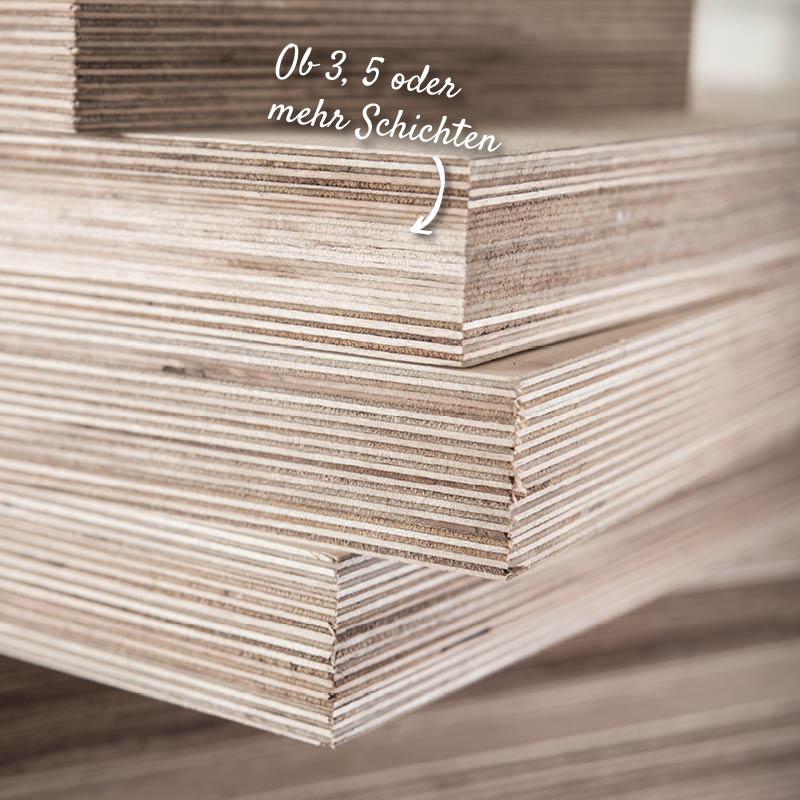 Furnierplatten mir mehreren Schichten | Holzland Verbeek