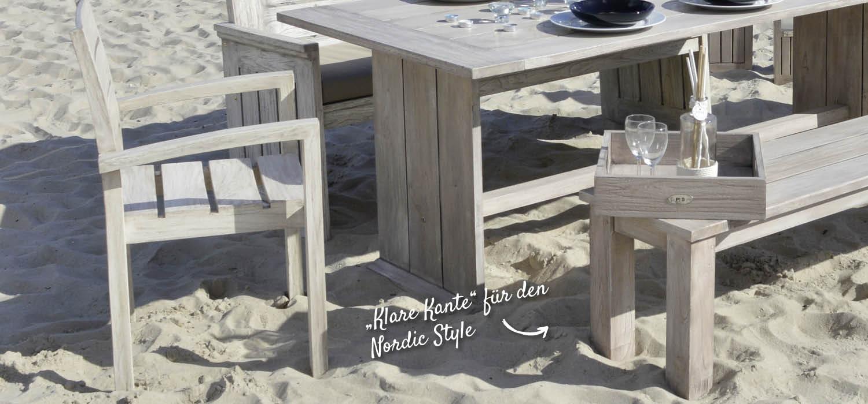 Gartenmöbel aus Holz mit klaren Formen – HolzLand Verbeek