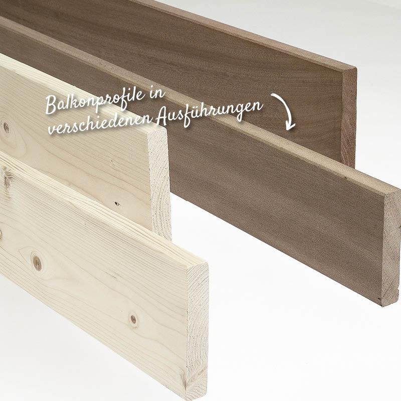 Balkonprofile, Hobelware – HolzLand Verbeek