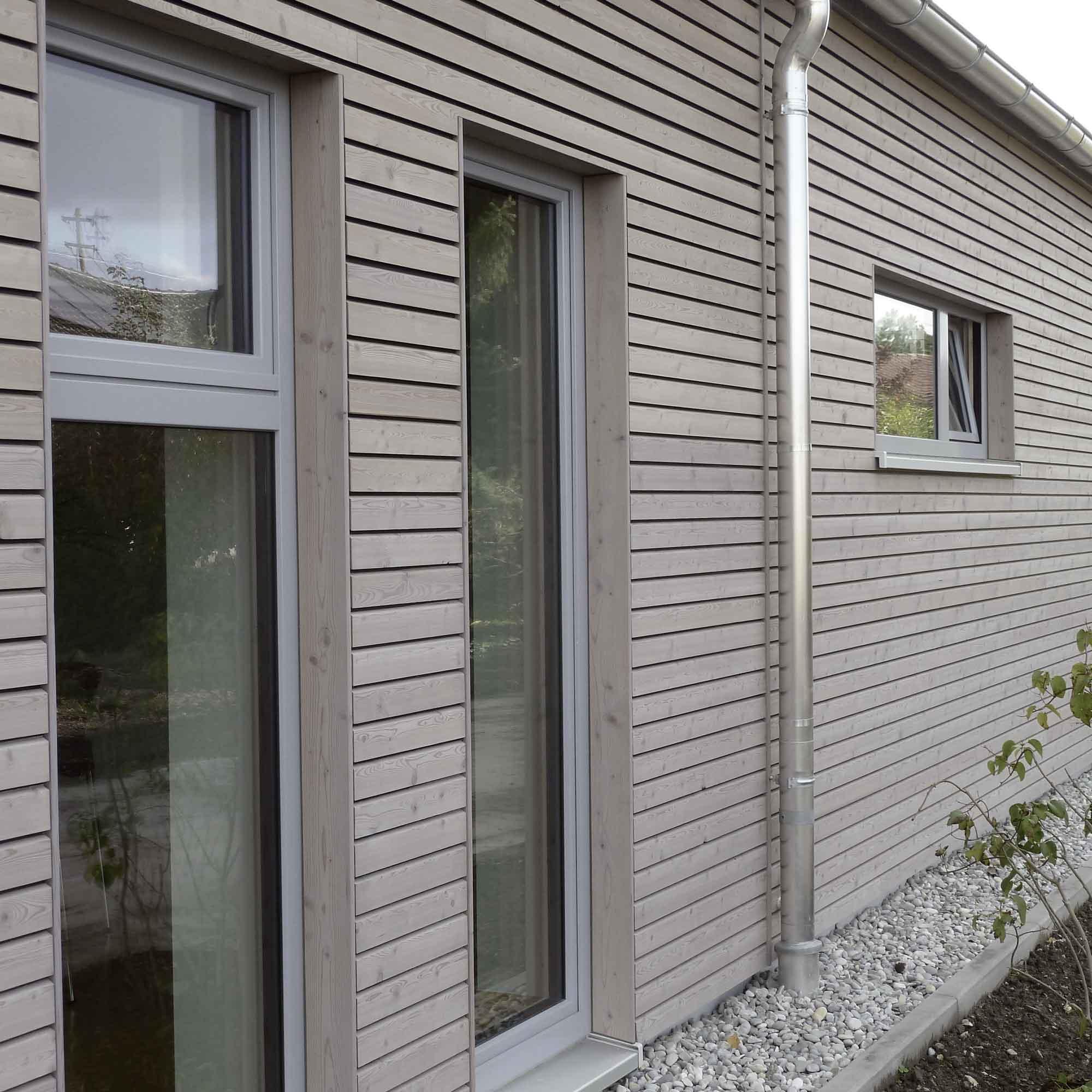 Holzfassade aus Hobelware – HolzLand Verbeek