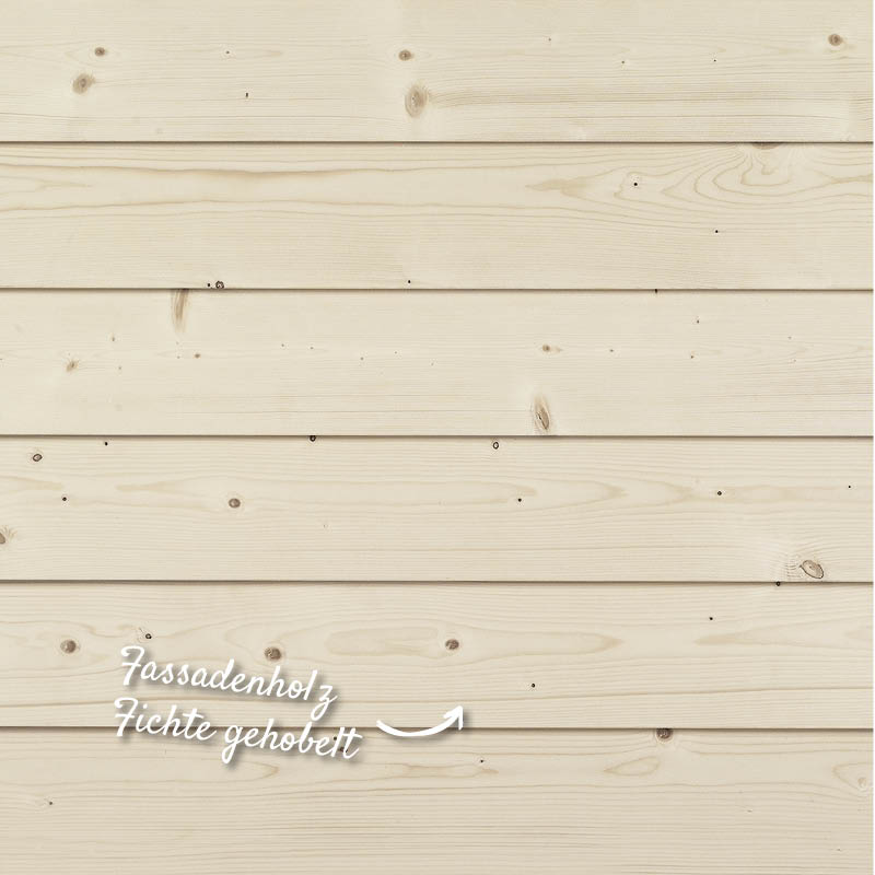 Hobelware, Fassadenholz Fichte gehobelt – HolzLand Verbeek