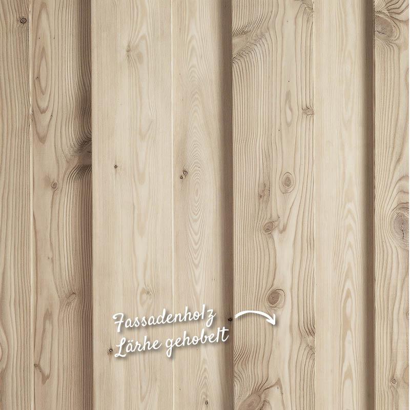 Holzfassade, Hobelware, Lärche gehobelt – HolzLand Verbeek
