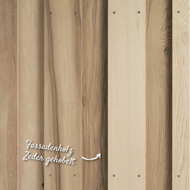 Hobelware, Fassadenholz Zeder gehobelt – HolzLand Verbeek