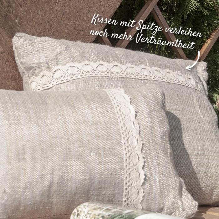 Kissen mit Spitze für den Country Style – HolzLand Verbeek