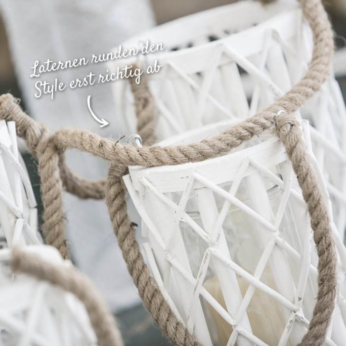 Weiße Laternen für die Gartendeko – Holzland Verbeek