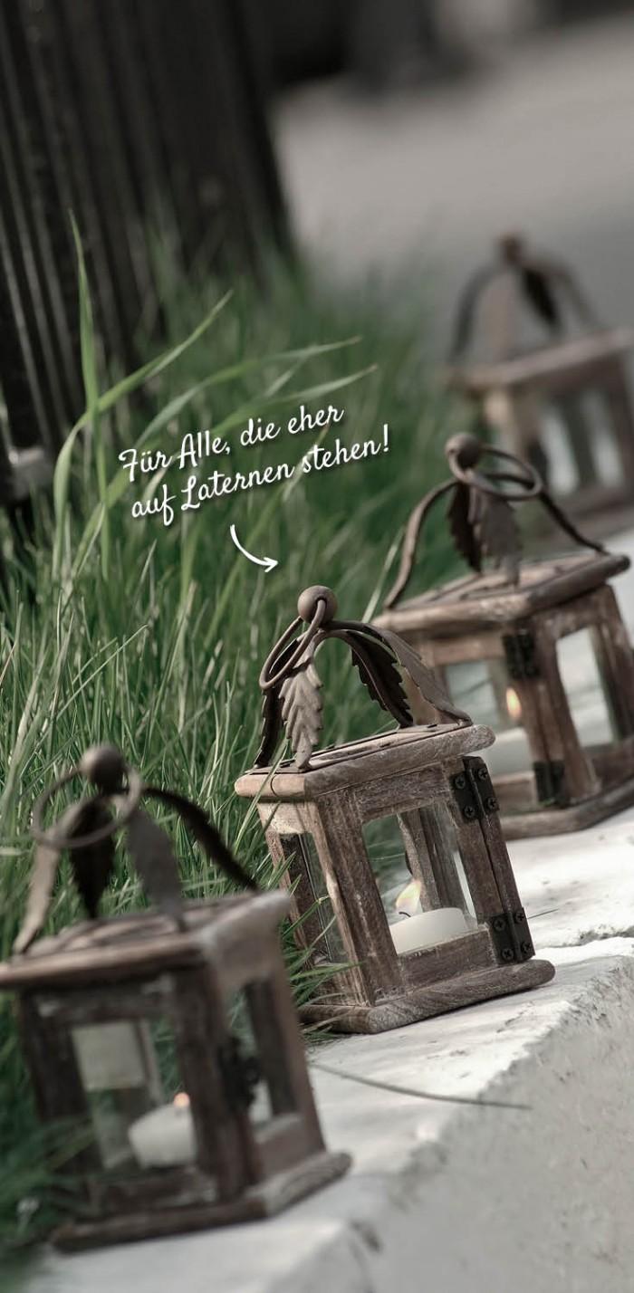Kleine Laternen für die zauberhafte Stimmung auf der Terrasse – HolzLand Verbeek