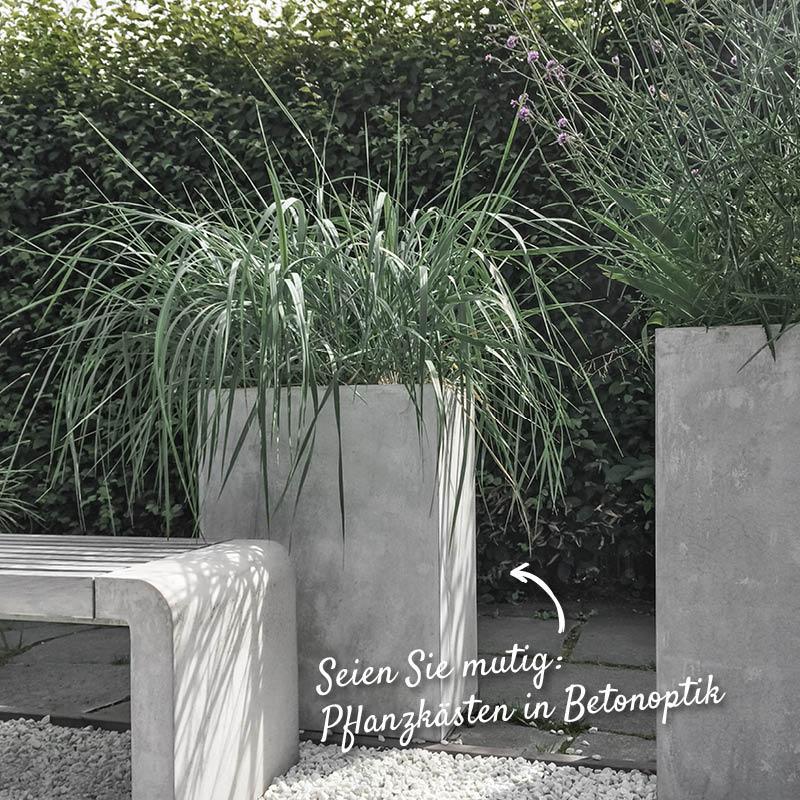 Pflanzkästen in Betonoptik – HolzLand Verbeek