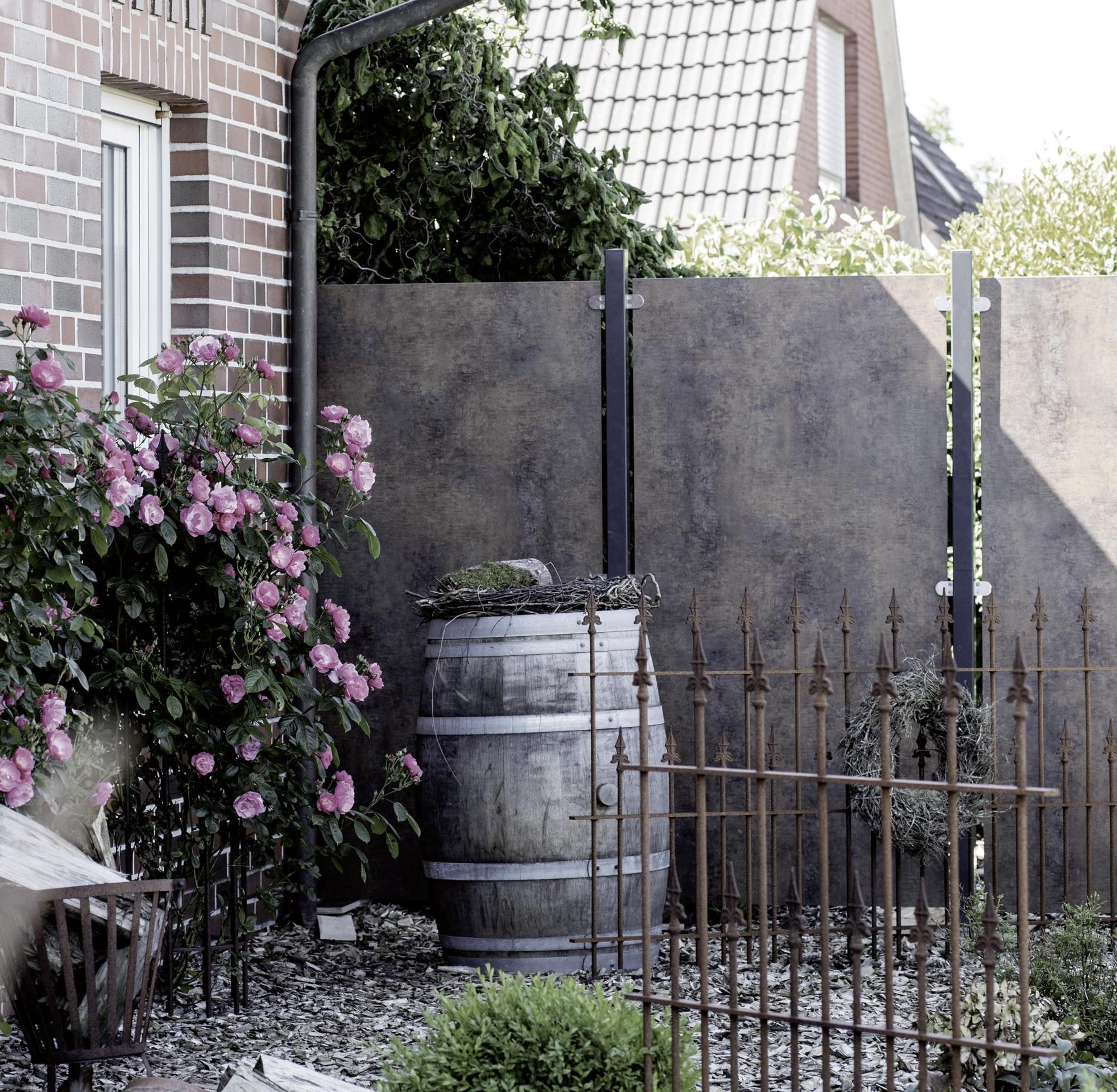 Sichtschutzzäune in Rostoptik – HolzLand Verbeek
