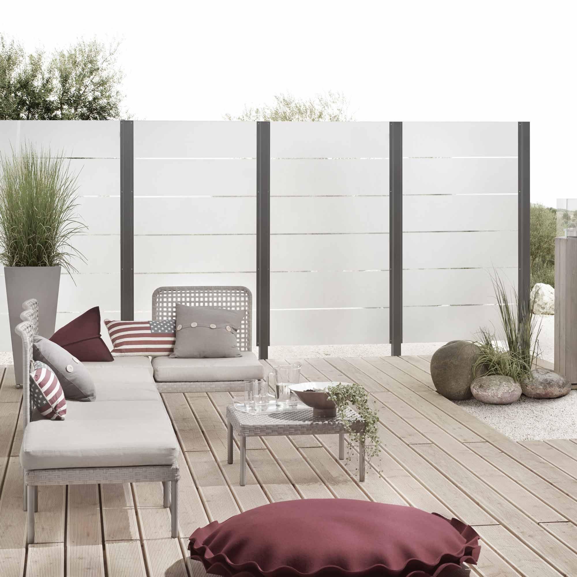 Sichtschutzzäune aus Glas und Alu – HolzLand Verbeek