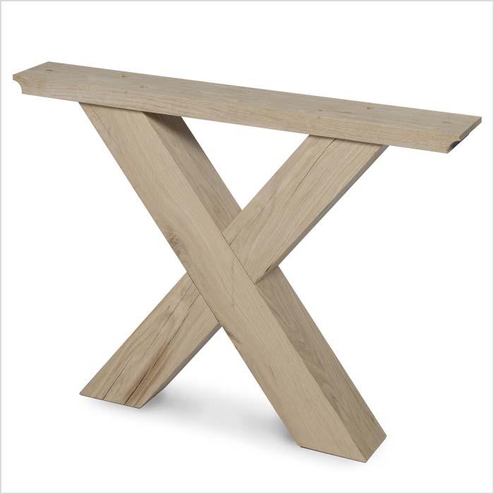 Untergestell aus Holz in X-Optik | Holzland Verbeek