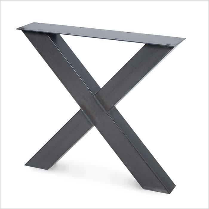 Untergestell aus Metall in X-Form | Holzland Verbeek
