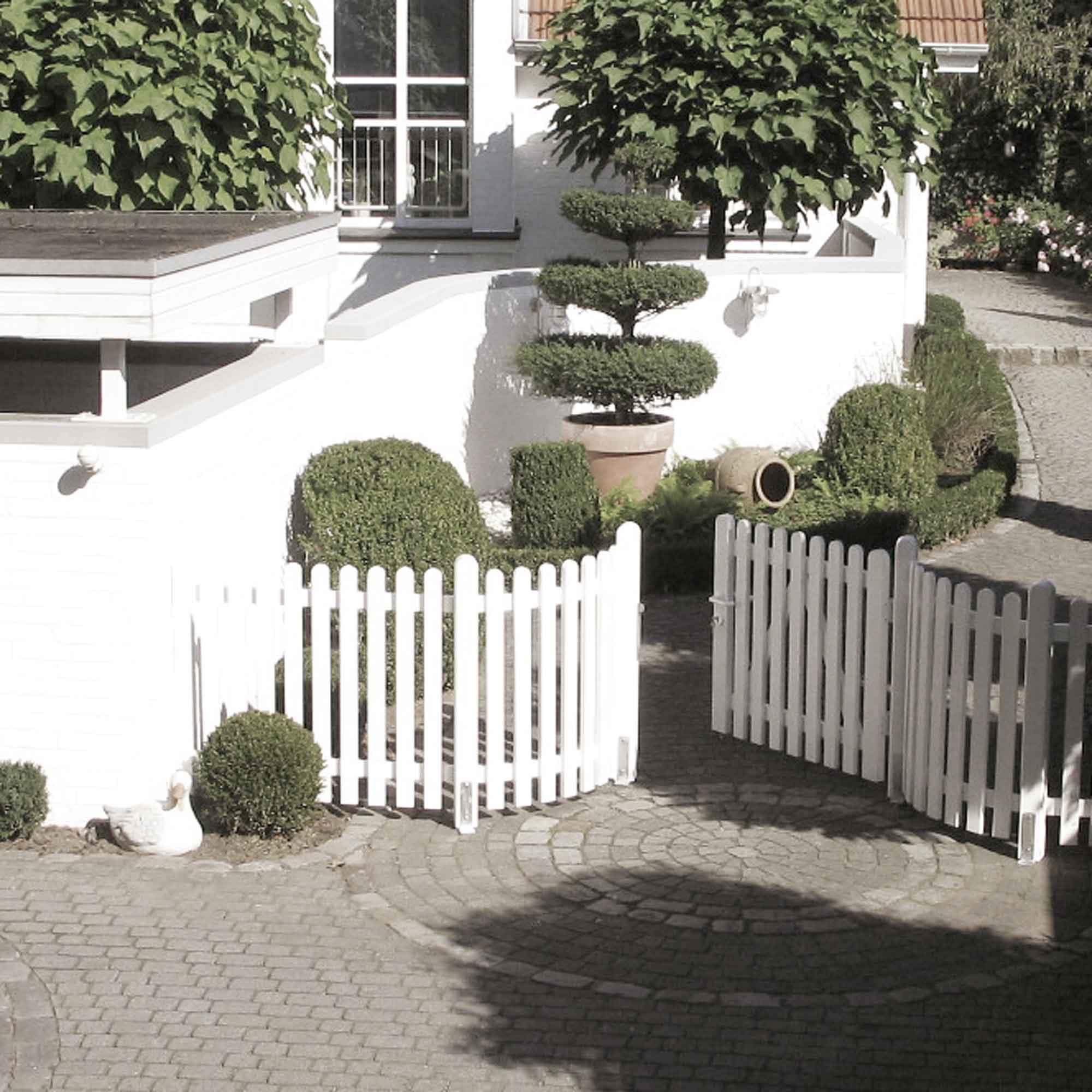 Weiße Vorgartenzäune für helle Wohnstile – HolzLand Verbeek