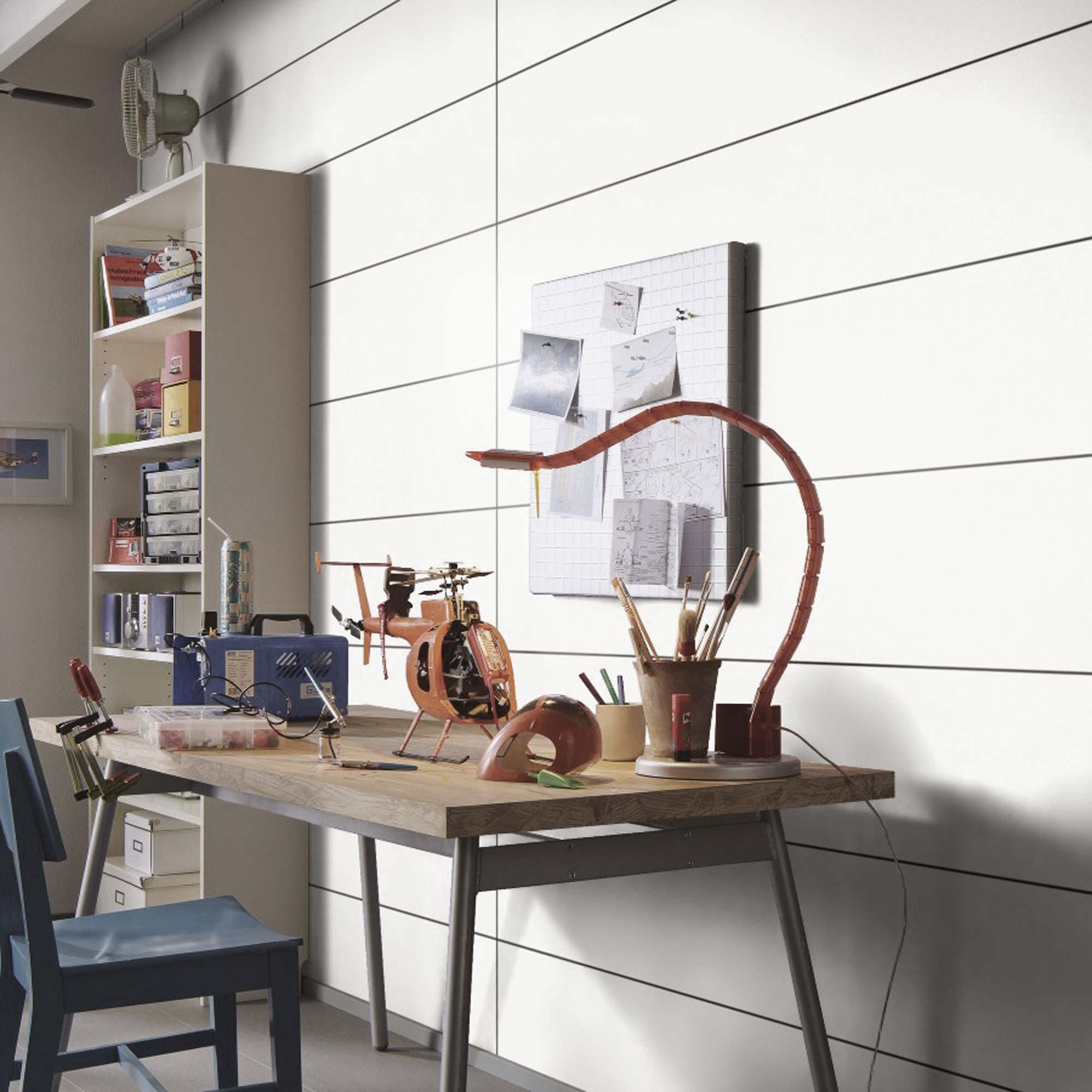 Holztisch in Arbeitszimmer dekoriert | Holzland Verbeek