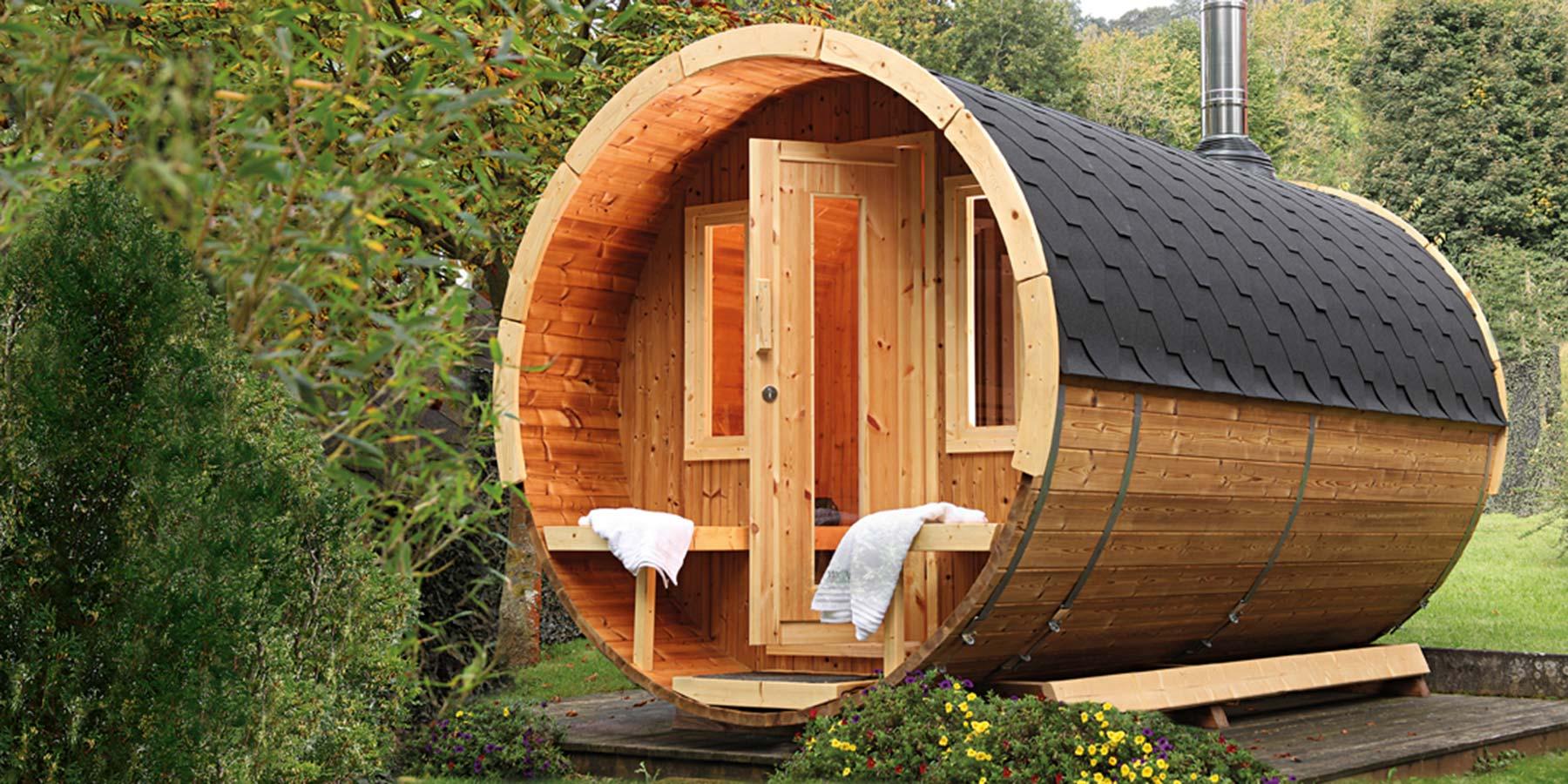 Saunafässer bei HolzLand Verbeek in Strealen