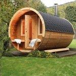 Saunafass im Garten von Finnhaus | Holzland Verbeek