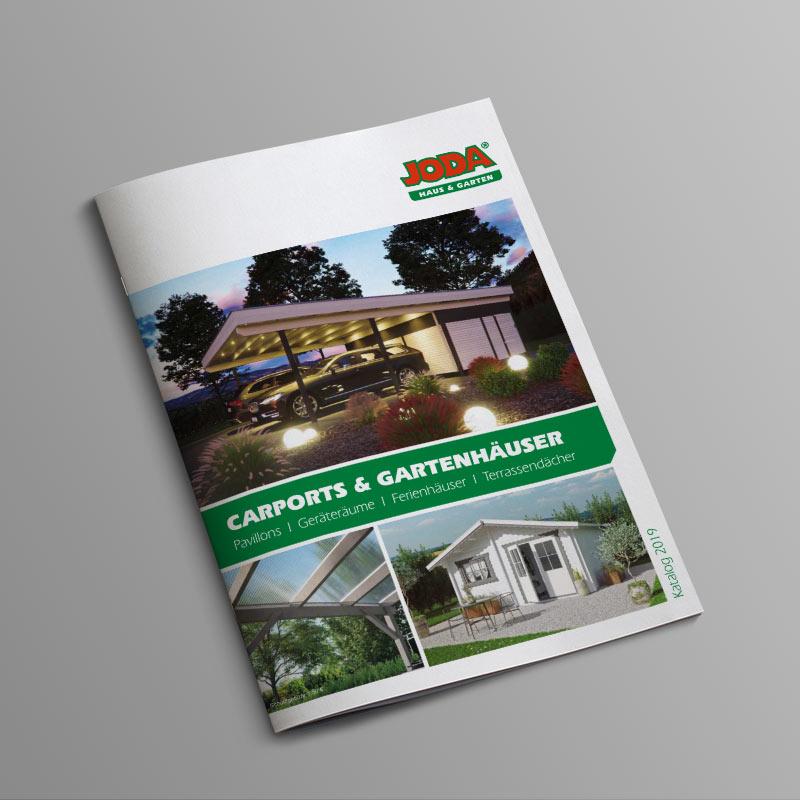 Joda Carpots und Gartenhäuser Katalog 2018